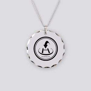 Return to Home Button Necklace Circle Charm