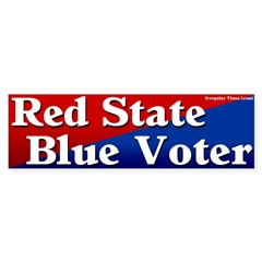 Louisiana Red State Blue Voter Bumper Sticker
