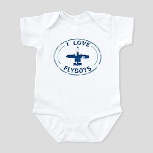 I Love Flyboys -navy Infant Bodysuit