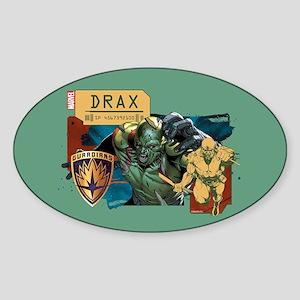 GOTG Drax Rage Sticker (Oval)