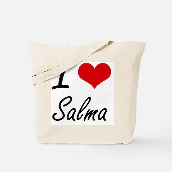 I Love Salma artistic design Tote Bag