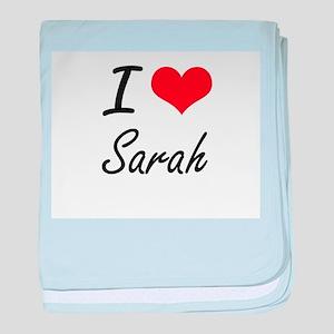 I Love Sarah artistic design baby blanket