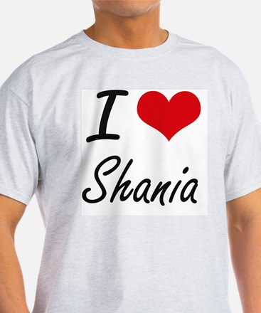 I Love Shania artistic design T-Shirt