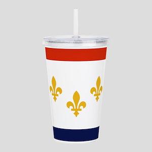 New Orleans Flag Acrylic Double-wall Tumbler