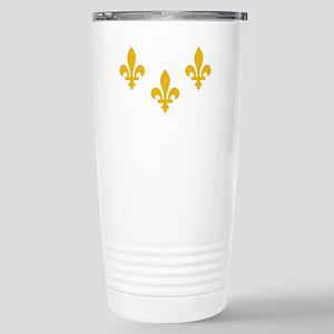 New Orleans Flag Stainless Steel Travel Mug