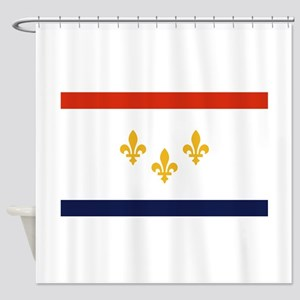 New Orleans Flag Shower Curtain