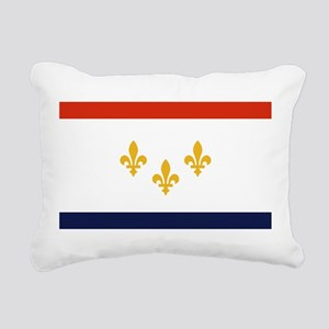 New Orleans Flag Rectangular Canvas Pillow