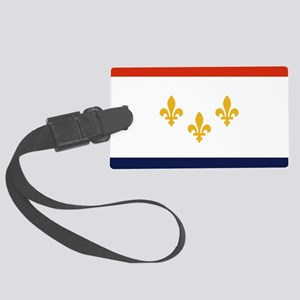 New Orleans Flag Large Luggage Tag