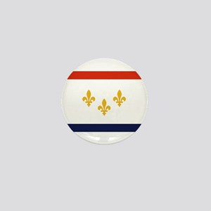 New Orleans Flag Mini Button