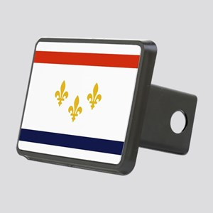 New Orleans Flag Rectangular Hitch Cover