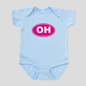 Ohio OH Euro Oval Infant Bodysuit