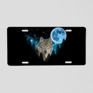 Wolf StarLight Aluminum License Plate