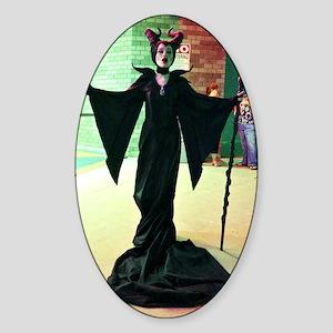 Maleficent Cosplay Sticker (Oval)