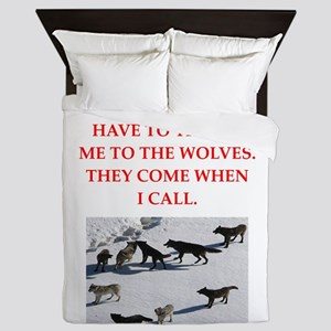 thrpwn to the wolves Queen Duvet