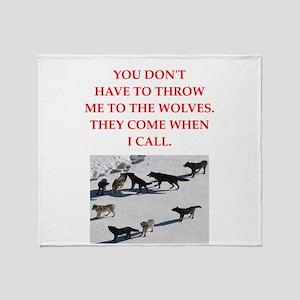 thrpwn to the wolves Throw Blanket