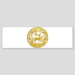 Golden Christmas Bumper Sticker