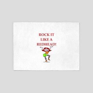 redhead 5'x7'Area Rug