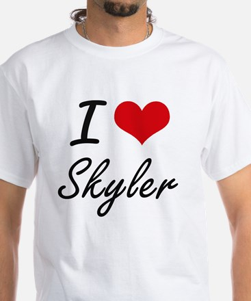 I Love Skyler artistic design T-Shirt