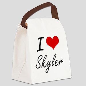 I Love Skyler artistic design Canvas Lunch Bag