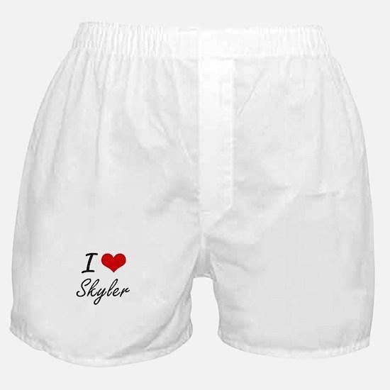 I Love Skyler artistic design Boxer Shorts