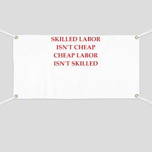 skilled labor Banner