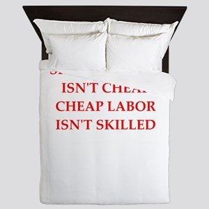 skilled labor Queen Duvet