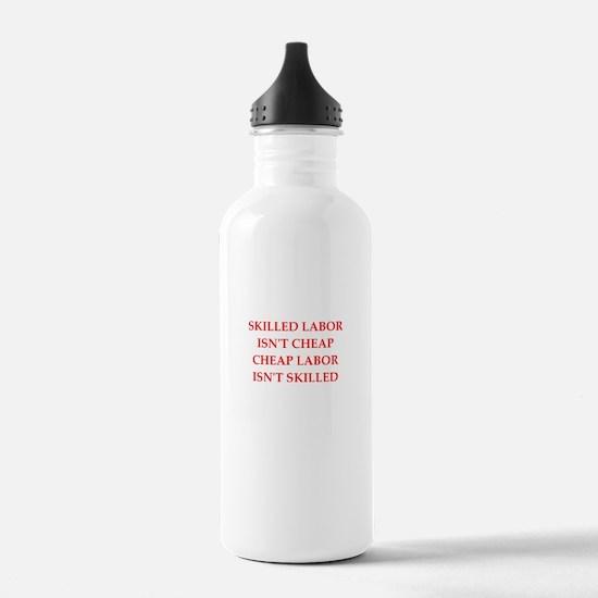 skilled labor Water Bottle