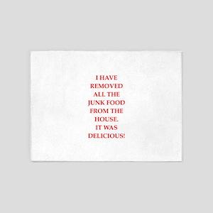 junk food 5'x7'Area Rug