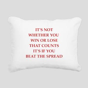 betting Rectangular Canvas Pillow