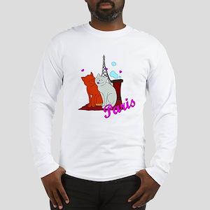 Paris Kitties Long Sleeve T-Shirt