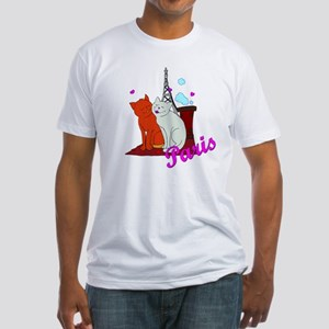Paris Kitties Fitted T-Shirt