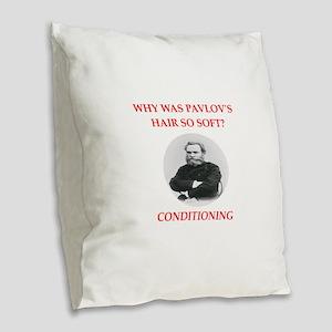 pavlov Burlap Throw Pillow