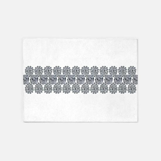 Wide Diamond Bracelet 5'x7'Area Rug