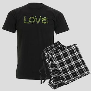Love In Brussel Sprout Alphabe Men's Dark Pajamas