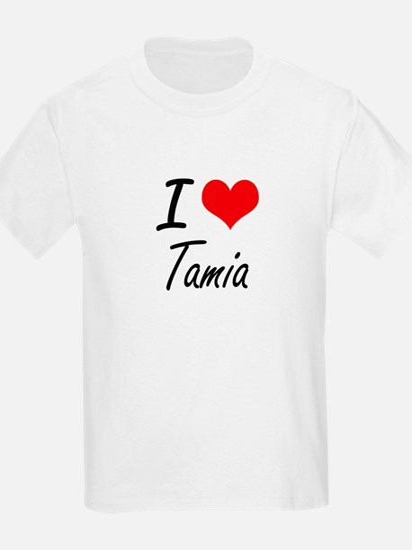 I Love Tamia artistic design T-Shirt