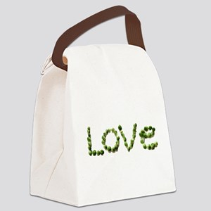 Love In Brussel Sprout Alphabet Canvas Lunch Bag