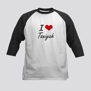 I Love Taniyah artistic design Baseball Jersey