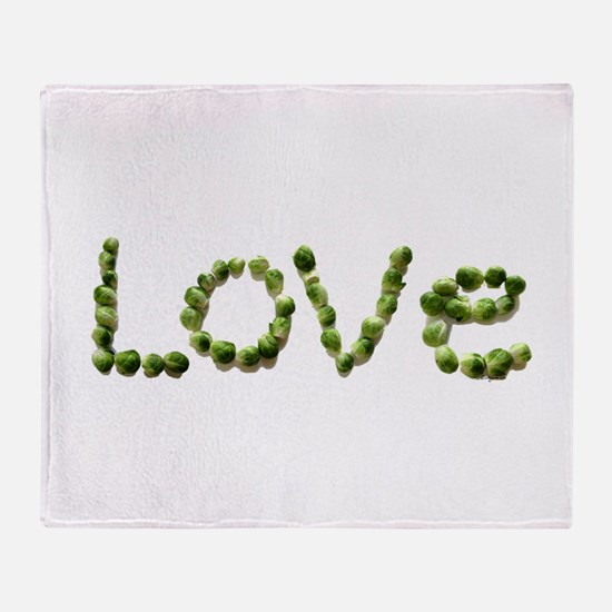 Love In Brussel Sprout Alphabet Throw Blanket