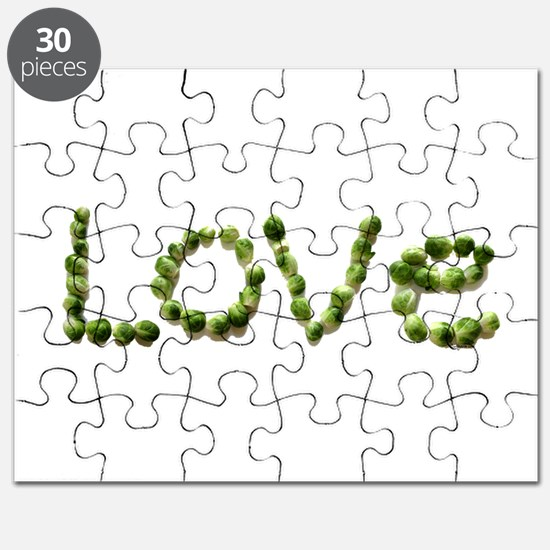 Love In Brussel Sprout Alphabet Puzzle