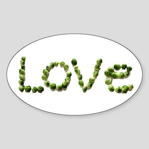 Love In Brussel Sprout Alphabet Sticker