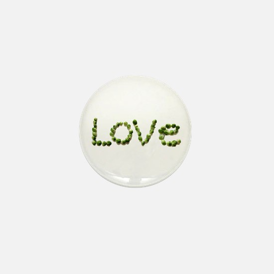 Love In Brussel Sprout Alphabet Mini Button