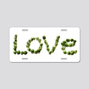 Love In Brussel Sprout Alph Aluminum License Plate