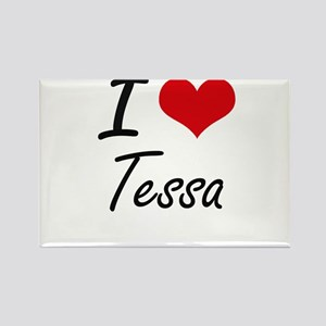 I Love Tessa artistic design Magnets