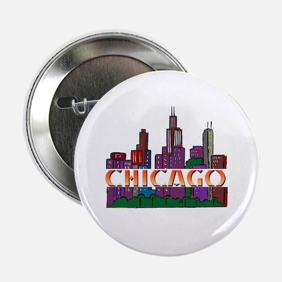 "Chicago Skyline 2.25"" Button (10 pack)"