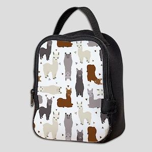 Alpaca Posse Pattern Neoprene Lunch Bag