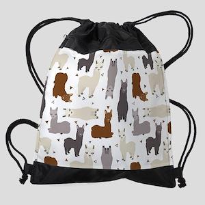 Alpaca Posse Pattern Drawstring Bag
