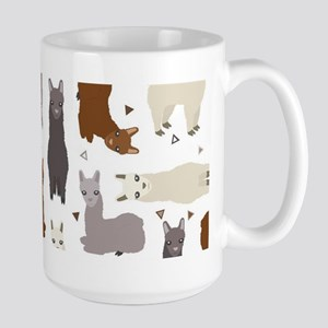 Alpaca Posse Pattern 15 oz Ceramic Large Mug