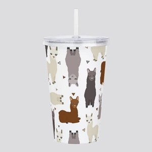 Alpaca Posse Pattern Acrylic Double-wall Tumbler