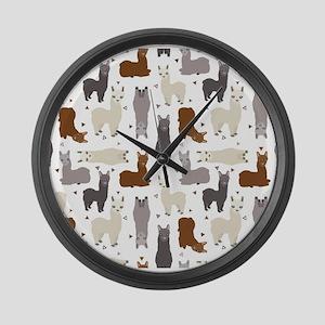 Alpaca Posse Pattern Large Wall Clock