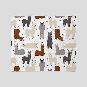 Alpaca Posse Pattern Throw Blanket